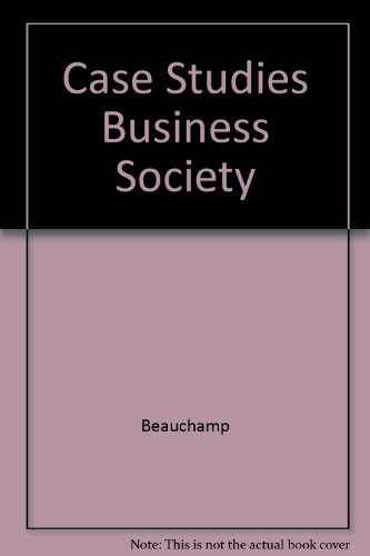 9780131192638: Case Studies Business Society