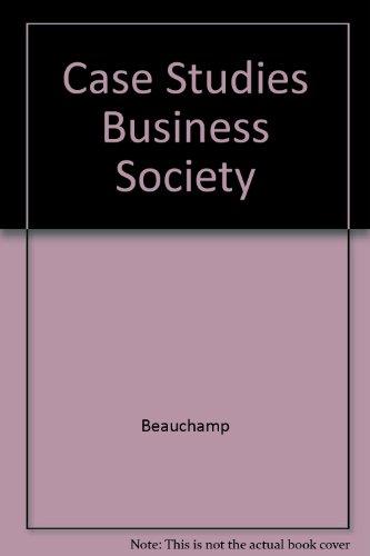 9780131192638: Case Studies Business Society