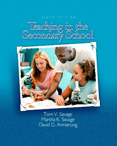 9780131194410: Teaching in the Secondary School (6th Edition)