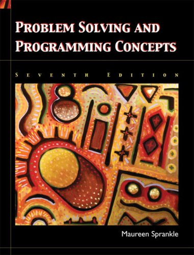 Problem Solving and Programming Concepts.07th ed.0paper0544 p.: Sprankle, Maureen