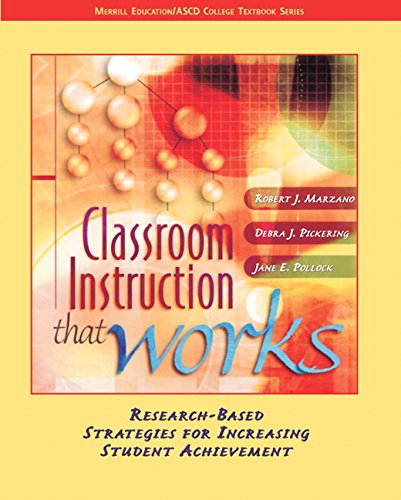 9780131195035: Classroom Instruction That Works: Research-Based Strategies for Increasing Student Achievement