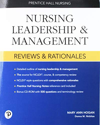 9780131196018: Prentice Hall Nursing Reviews and Rationales: Nursing Leadership and Management