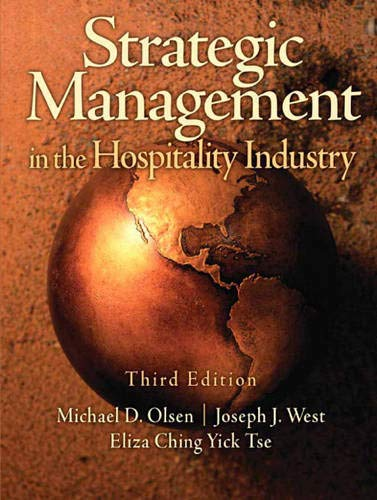 9780131196629: Strategic Management in the Hospitality Industry (3rd Edition)