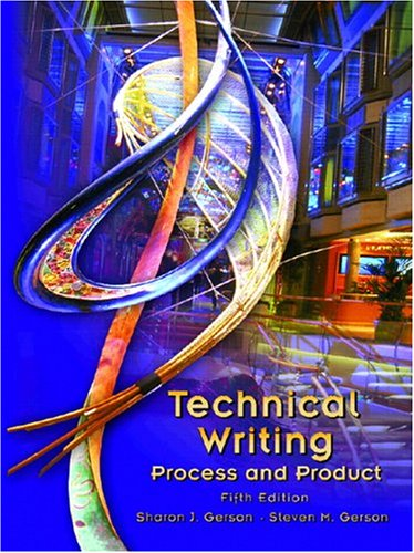 9780131196643: Technical Writing: Process and Product (5th Edition)
