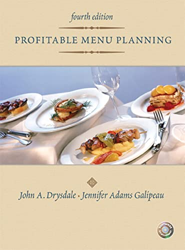 9780131196803: Profitable Menu Planning (4th Edition)