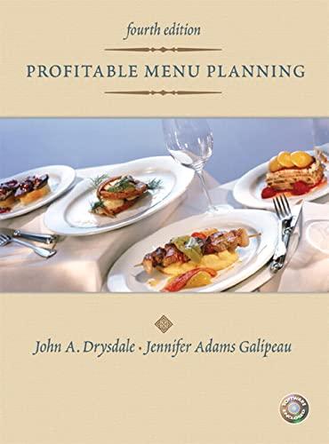 9780131196803: Profitable Menu Planning