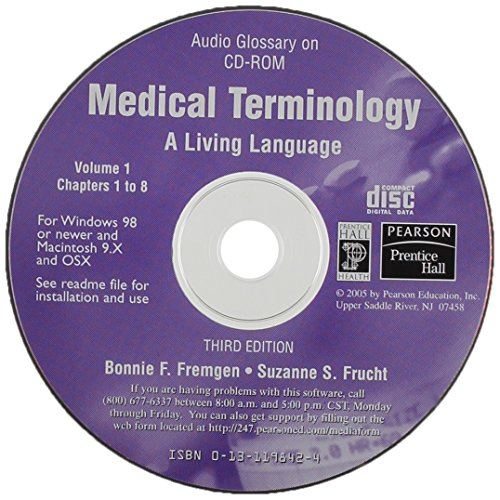 9780131198425: Medical Terminology: A Living Language (Audio Glossary)