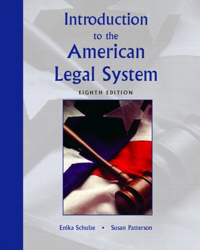 9780131199217: Introduction to the American Legal System (8th Edition)