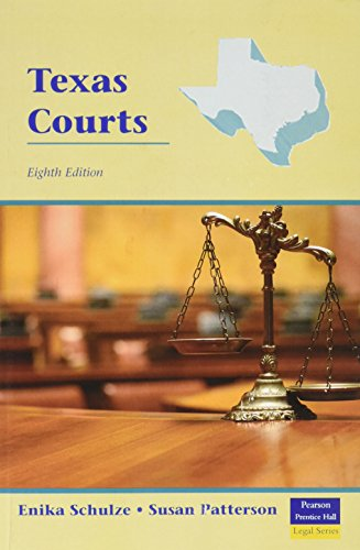 9780131199248: Texas Courts (8th Edition)
