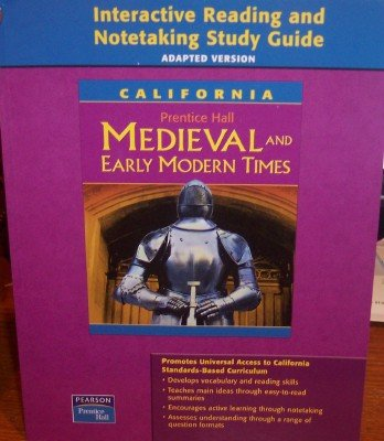 9780131199958: Interactive Reading and Notetaking Study Guide, Adapted Version (California Medieval and Early Modern Times)