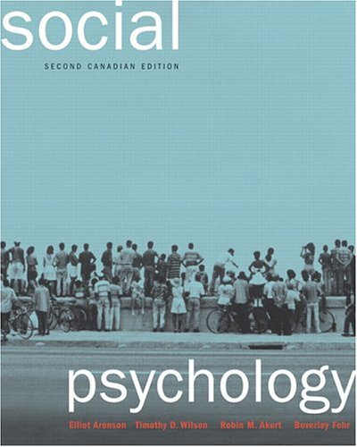 9780131200012: Social Psychology, Second Canadian Edition