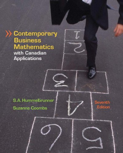 9780131201286: Contemporary Business Mathematics with Canadian Applications