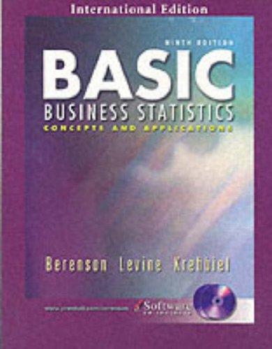 Basic Business Statistics 9/e (international edition): Berenson