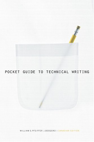 9780131206854: Pocket Guide to Technical Writing Canadian Edition
