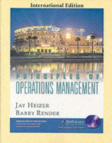 9780131209756: Principles of Operations Management (Pie)