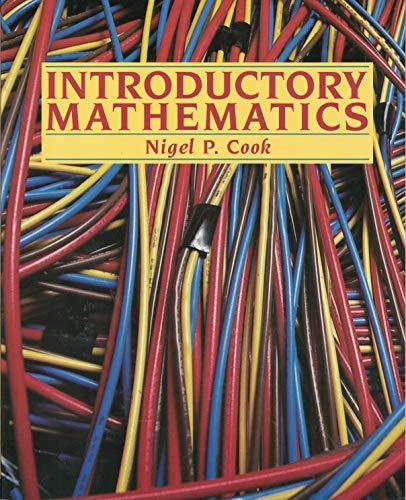 Introductory Mathematics: Cook, Nigel P.