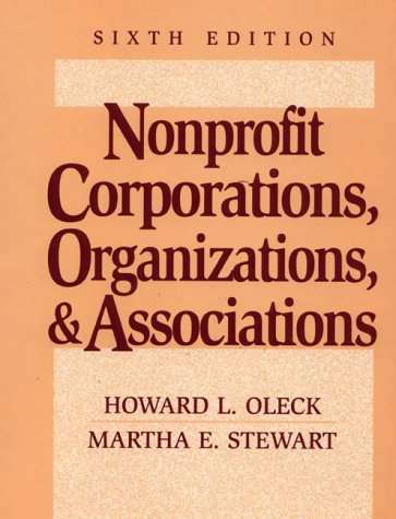 9780131213104: Nonprofit Corporations, Organizations, and Associations