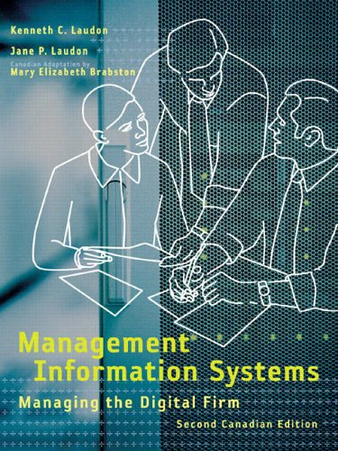 9780131213524: Management Information Systems: Managing the Digital Firm 2nd Canadian Edition