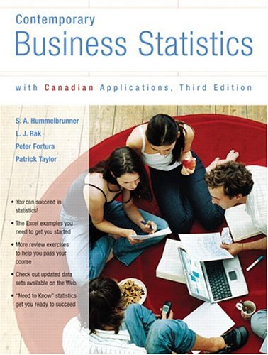 9780131215818: Contemporary Business Statistics with Canadian Applications, Third Canadian Edition (3rd Edition)
