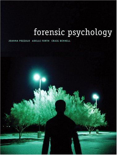 Forensic Psychology: Joanna Pozzulo, Craig