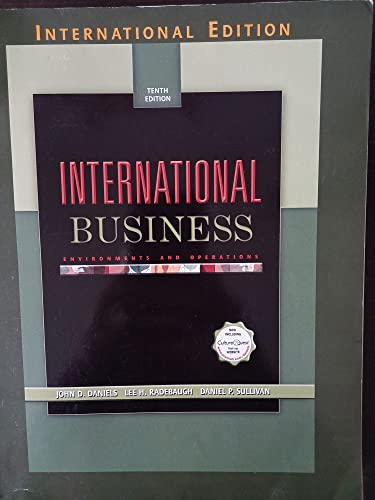 International Business: Environments and Operations (International Edition): John D. Daniels;