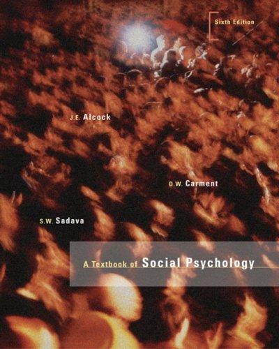 9780131217416: A Textbook Of Social Psychology