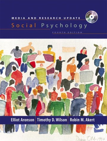 9780131217874: Social Psychology, Media and Research Update (International Edition)