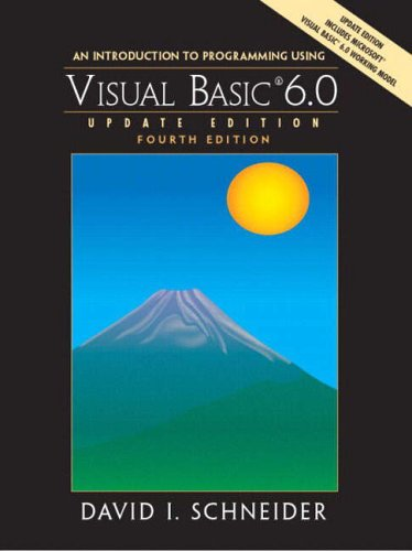 9780131219182: An Introduction to Programming with Visual Basic 6.0: Update Edition (Pie)