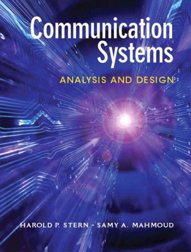 9780131219298: Communication Systems: Analysis and Design: International Edition