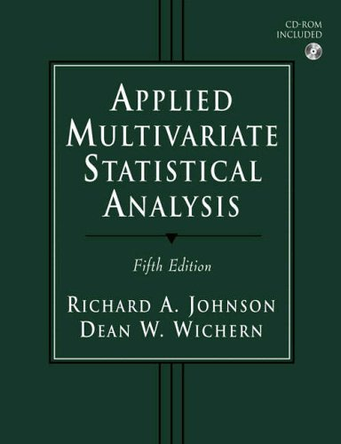 APPLIED MULTIVARIATE STATISTICAL ANALYSIS: JOHNSON, RICHARD A.