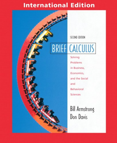 9780131219762: Brief Calculus with Applications (Pie)