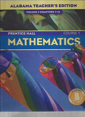 9780131221345: Mathematics: Course 1 (Volume 2: Chapters 7-12)