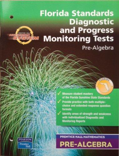9780131223356: Florida Standards Diagnostic and Progress Monitoring Tests Pre-Algebra