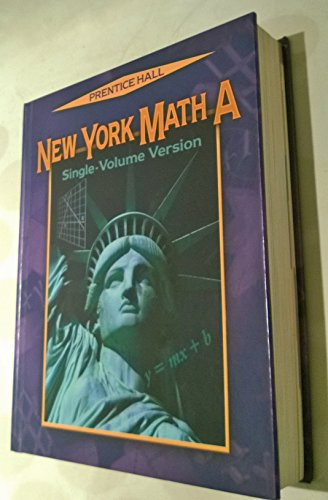 9780131223776: New York Math A: Single Volume Version
