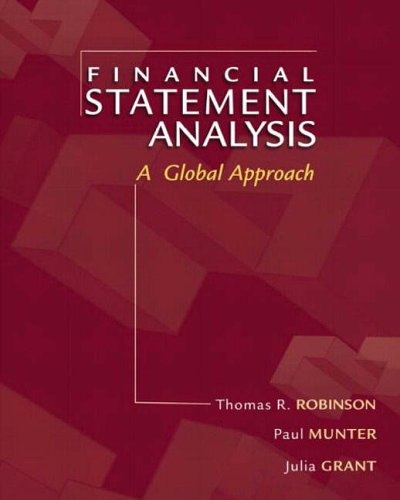 9780131226968: Financial Statement Analysis: A Global Perspective: International Edition