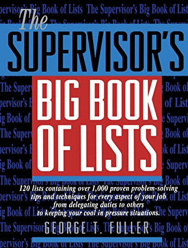 9780131227712: The Supervisor's Big Book of Lists
