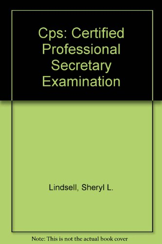 9780131228054: Cps: Certified Professional Secretary Examination (Professional certification & licensing examination series)