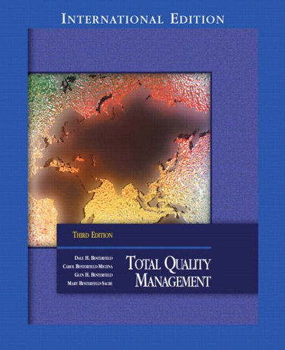 9780131228092: Total Quality Management: International Edition