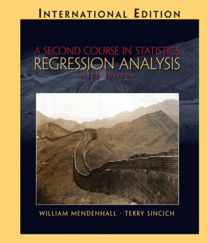 9780131228108: A Second Course in Statistics: Regression Analysis
