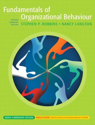 Fundamentals of Organizational Behavior: Stephen P. Robbins,