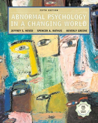 9780131228290: Abnormal Psychology in a Changing World with CD-ROM (International Edition)