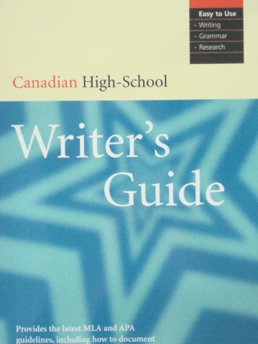 9780131228436: Canadian High School Writer's Guide