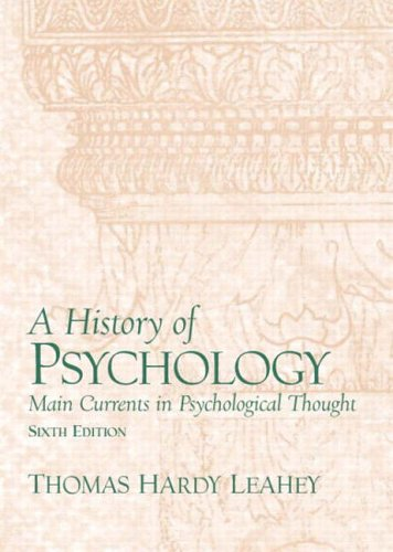 9780131229105: A History of Psychology: Main Currents in Psychological Thought