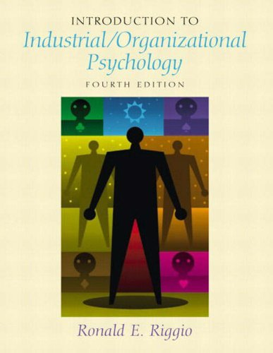 9780131229143: Introduction to Industrial/Organizational Psychology (International Edition)