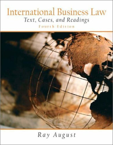 9780131229297: International Business Law; Text, Cases, and Readings (International Edition)