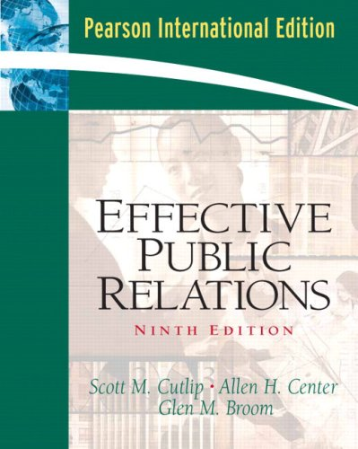 9780131230149: Effective Public Relations: International Edition