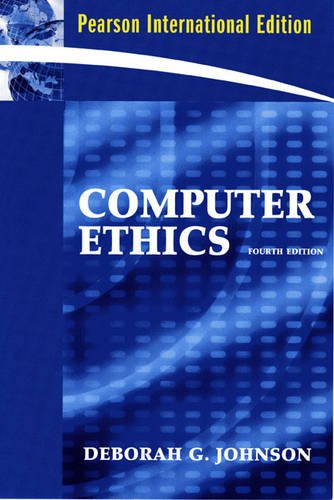 9780131230224: Computer Ethics:International Edition
