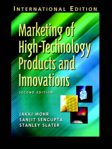 9780131230231: Marketing of High-Technology Products and Innovations: International Edition