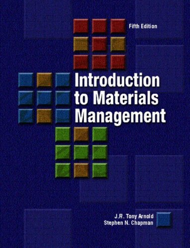 9780131230453: Introduction to Materials Management: International Edition