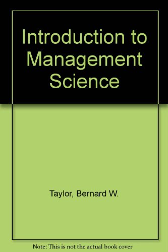 9780131239319: Introduction to Management Science and Student CD Package: International Edition